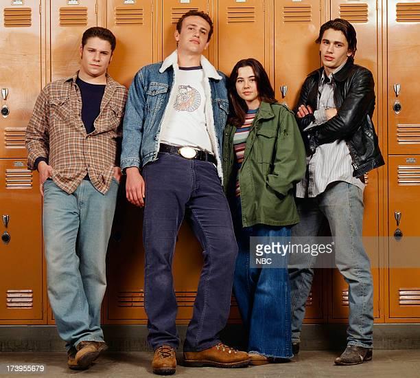 Seth Rogen as Ken Miller Jason Segel as Nick Andopolis Linda Cardellini as Lindsay Weir and James Franco as Daniel Desario