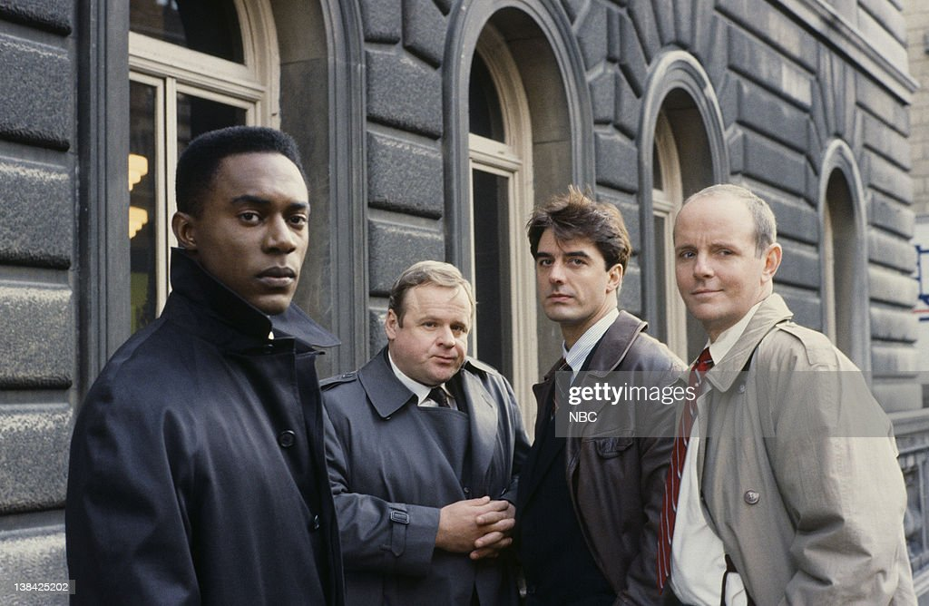 Richard Brooks as A.D.A. Paul Robinette, George Dzundza as Detective Maxwell 'Max' Greevey, Chris Noth as Detective Mike Logan, Michael Moriarty as Executive A.D.A. Ben Stone