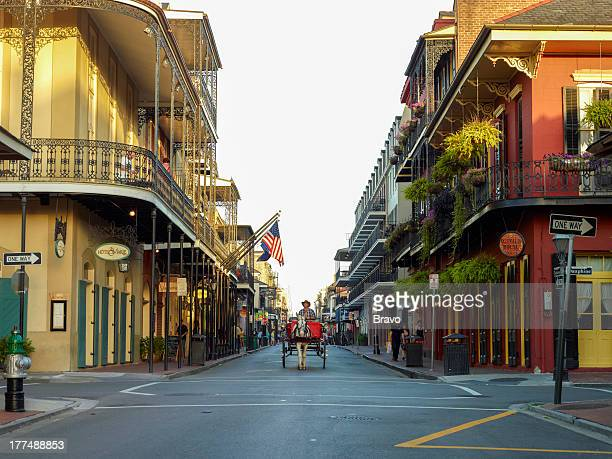Rue Toulouse in The French Quarter in New Orleans Louisiana in June 2013