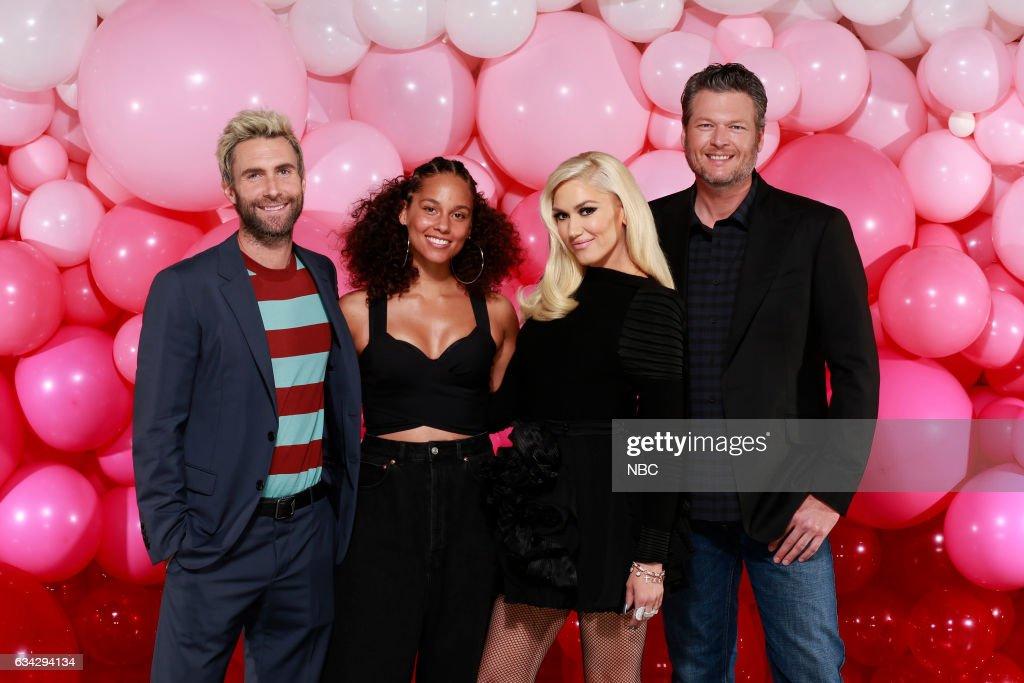 THE VOICE -- 'Season 12 Press Junket' -- Pictured: (l-r) Adam Levine, Alicia Keys, Gwen Stefani, Blake Shelton; ?The Voice? coaches ?Feel the Love? as they prepare for the new season, premiering Monday, February 27 (8 p.m. ET/PT) --