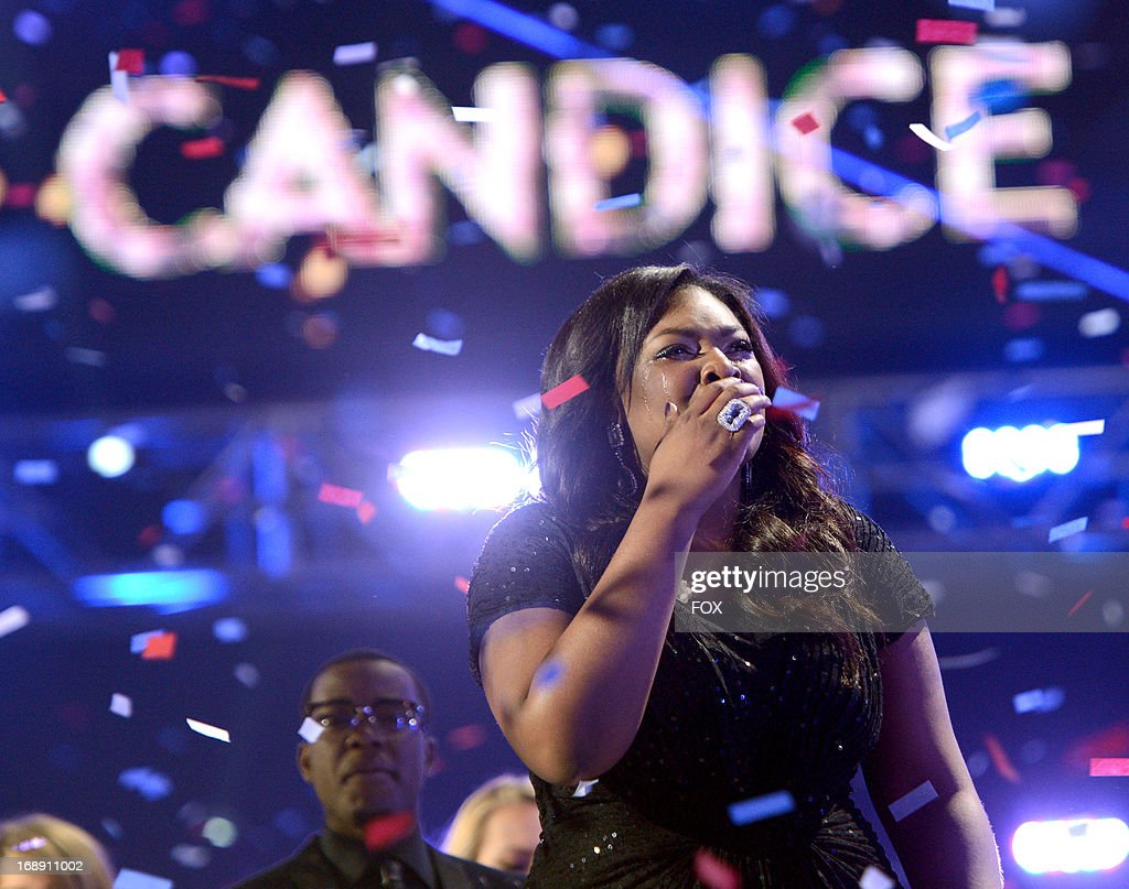 Season 12 winner Candice Glover onstage at FOX's 'American Idol' Season 12 Live Finale Show at Nokia Theatre L.A. Live on May 16, 2013 in Los Angeles, California.