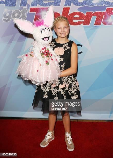 Season 12 winner Darci Lynne Farmer attends NBC's 'America's Got Talent' Season 12 Finale held at Dolby Theatre on September 20 2017 in Hollywood...