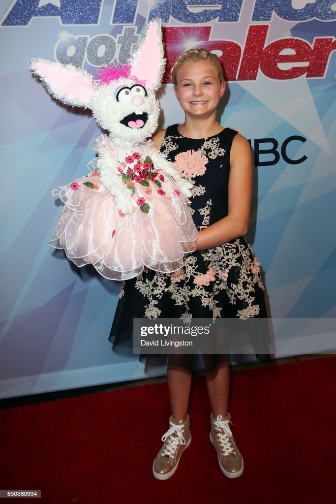 Season 12 winner ventriloquist Darci Lynne Farmer attends NBC's 'America's Got Talent' season 12 finale at Dolby Theatre on September 20, 2017 in Hollywood, California.
