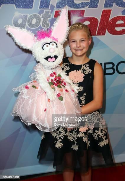 Season 12 winner ventriloquist Darci Lynne Farmer attends NBC's 'America's Got Talent' season 12 finale at Dolby Theatre on September 20 2017 in...
