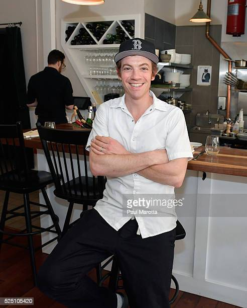 Season 13 Top Chef contestant Carl Dooley readies for dinner and poses for a portrait at his new restaurant THE TABLE in North Cambridge...