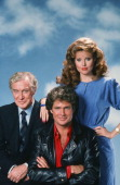 Edward Mulhare as Devon Miles David Hasselhoff as Michael Knight Rebecca Holden as April Curtis Photo by Herb Ball/NBCU Photo Bank