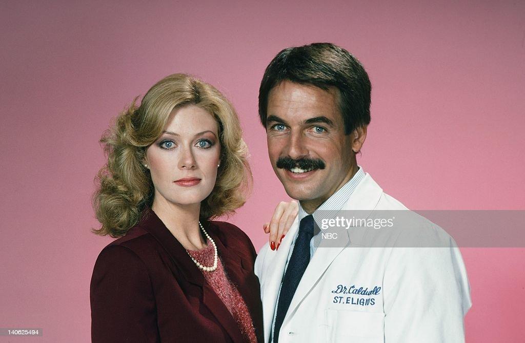 Nancy Stafford as Joan Halloran, Mark Harmon as Doctor Robert Caldwell -- Photo by: Frank Carroll/NBCU Photo Bank