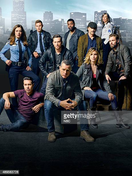 2 Pictured top row Marina Squerciati as Officer Kim Burgess Brian Geraghty as Officer Sean Roman Jesse Lee Soffer as Detective Jay Halstead LaRoyce...