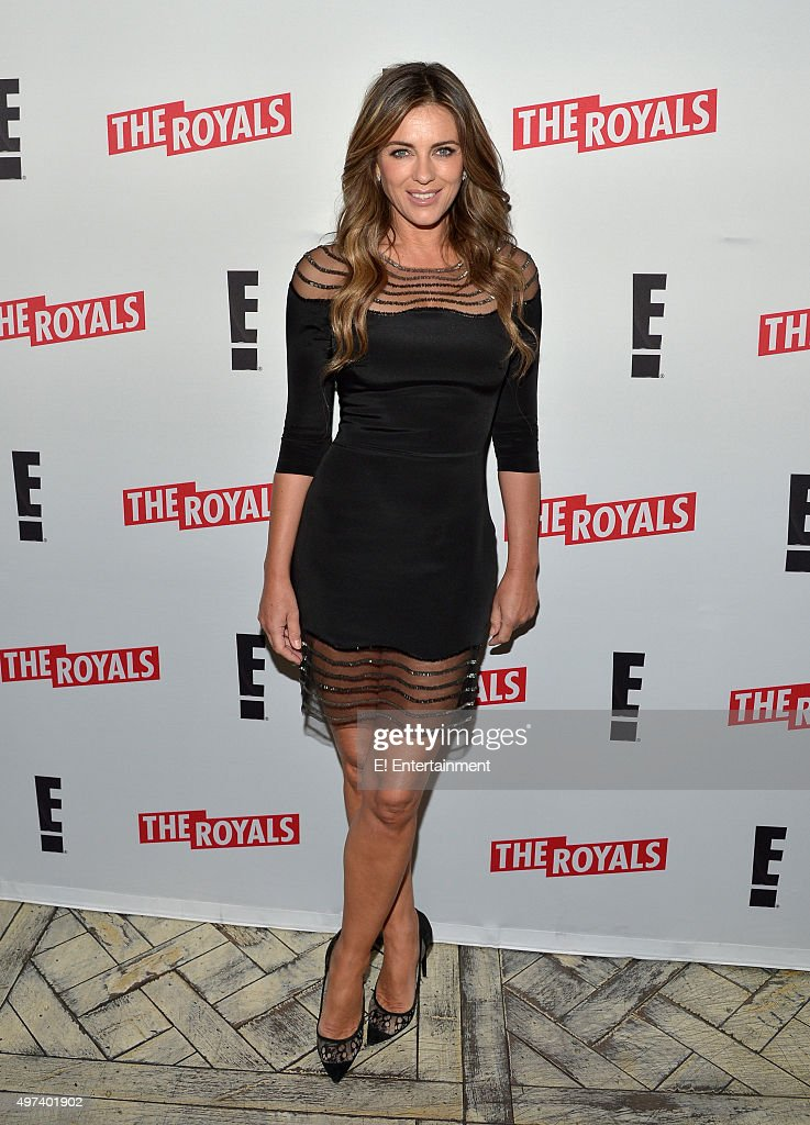 THE ROYALS -- 'Season 2 Press Screening' -- Pictured: <a gi-track='captionPersonalityLinkClicked' href=/galleries/search?phrase=Elizabeth+Hurley&family=editorial&specificpeople=201731 ng-click='$event.stopPropagation()'>Elizabeth Hurley</a> --