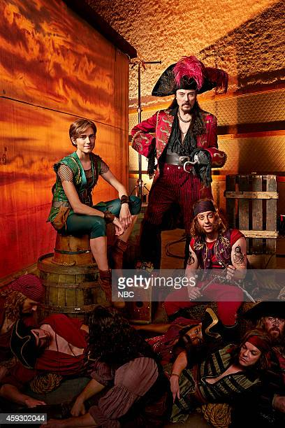 2014 Pictured Allison Williams as Peter Pan Christopher Walken as Captain Hook Christian Borle as Smee Pirates