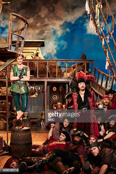2014 Pictured Allison Williams as Peter Pan Pirates Christopher Walken as Captain Hook
