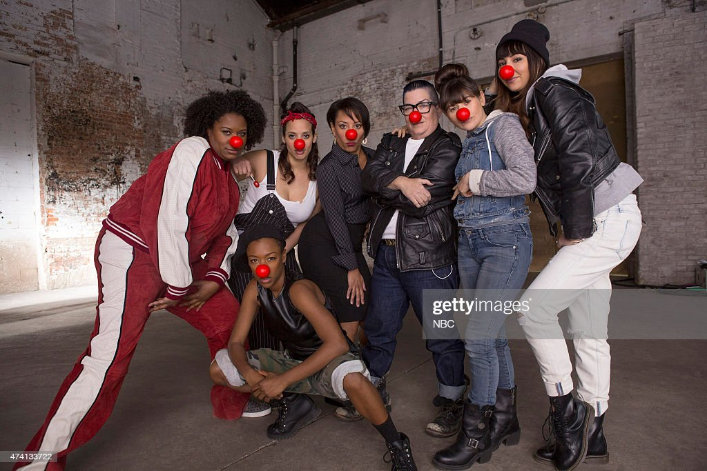 2015 --'Orange is the New Black'-- Pictured: (l-r) top row; Adrienne C. Moore, Dascha Polanco, Selenis Leyva, Lea Delaria, Yael Stone, Jackie Cruz; bottom row; Samira Wiley --