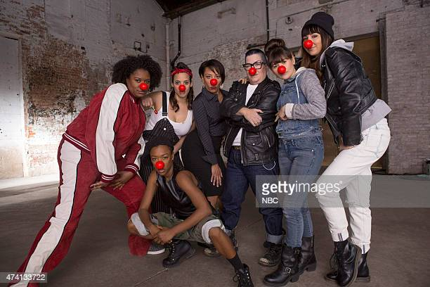 2015 'Orange is the New Black' Pictured top row Adrienne C Moore Dascha Polanco Selenis Leyva Lea Delaria Yael Stone Jackie Cruz bottom row Samira...