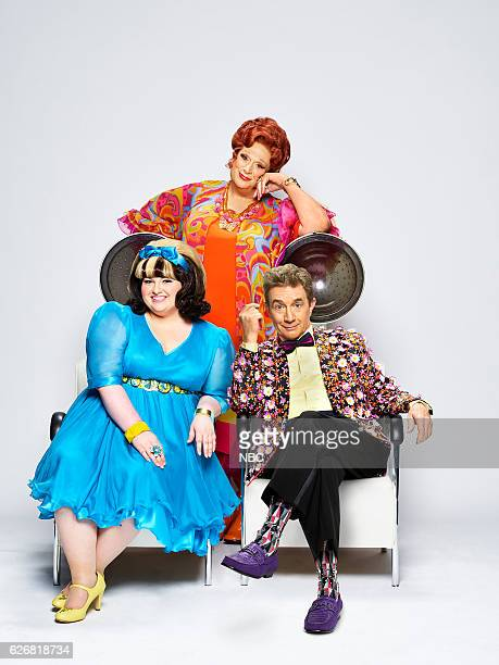 2016 Pictured Harvey Fierstein as Edna Turnblad Maddie Baillio as Tracy Turnblad Martin Short as Wilbur Turnblad