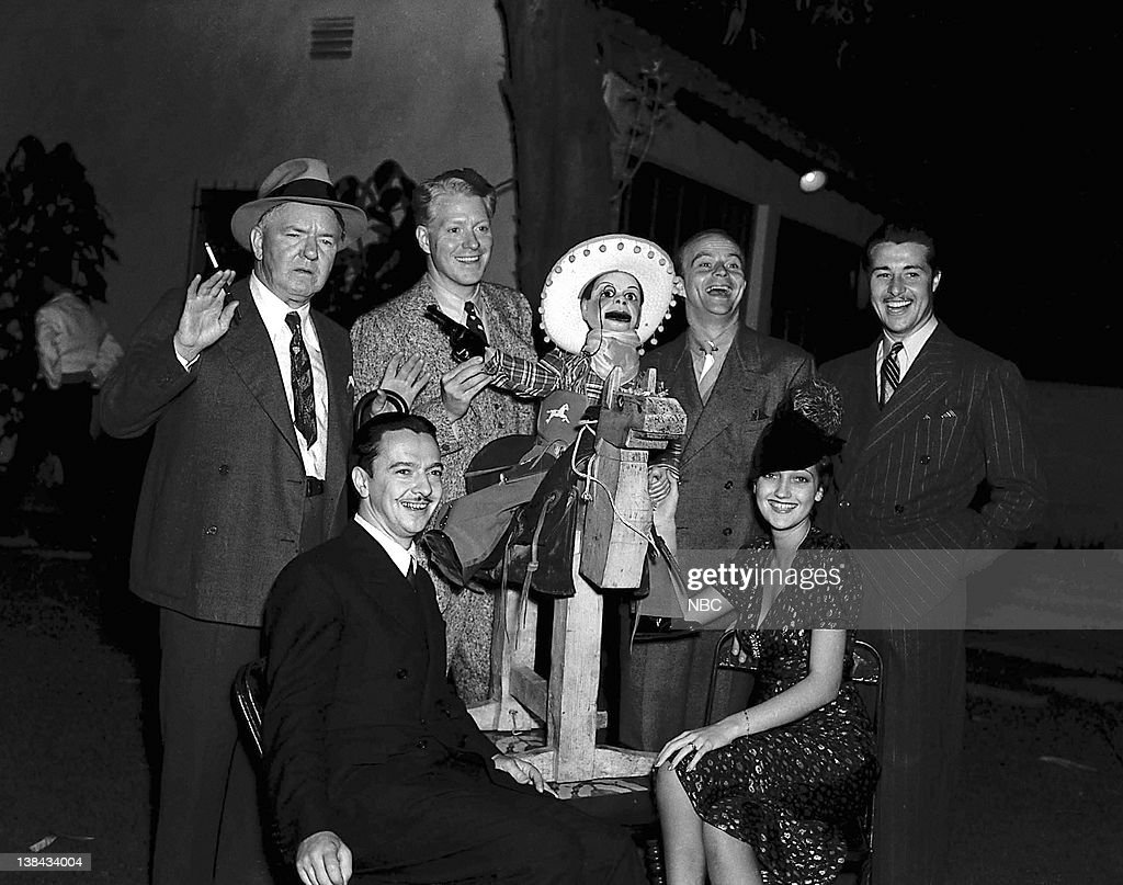 Cast: W.C. Fields, orchestra conductor Robert Armbruster, Nelson Eddy, Charlie McCarthy (puppet), host <a gi-track='captionPersonalityLinkClicked' href=/galleries/search?phrase=Edgar+Bergen&family=editorial&specificpeople=93333 ng-click='$event.stopPropagation()'>Edgar Bergen</a>, <a gi-track='captionPersonalityLinkClicked' href=/galleries/search?phrase=Dorothy+Lamour&family=editorial&specificpeople=90714 ng-click='$event.stopPropagation()'>Dorothy Lamour</a>, <a gi-track='captionPersonalityLinkClicked' href=/galleries/search?phrase=Don+Ameche&family=editorial&specificpeople=214190 ng-click='$event.stopPropagation()'>Don Ameche</a> in 1939 --