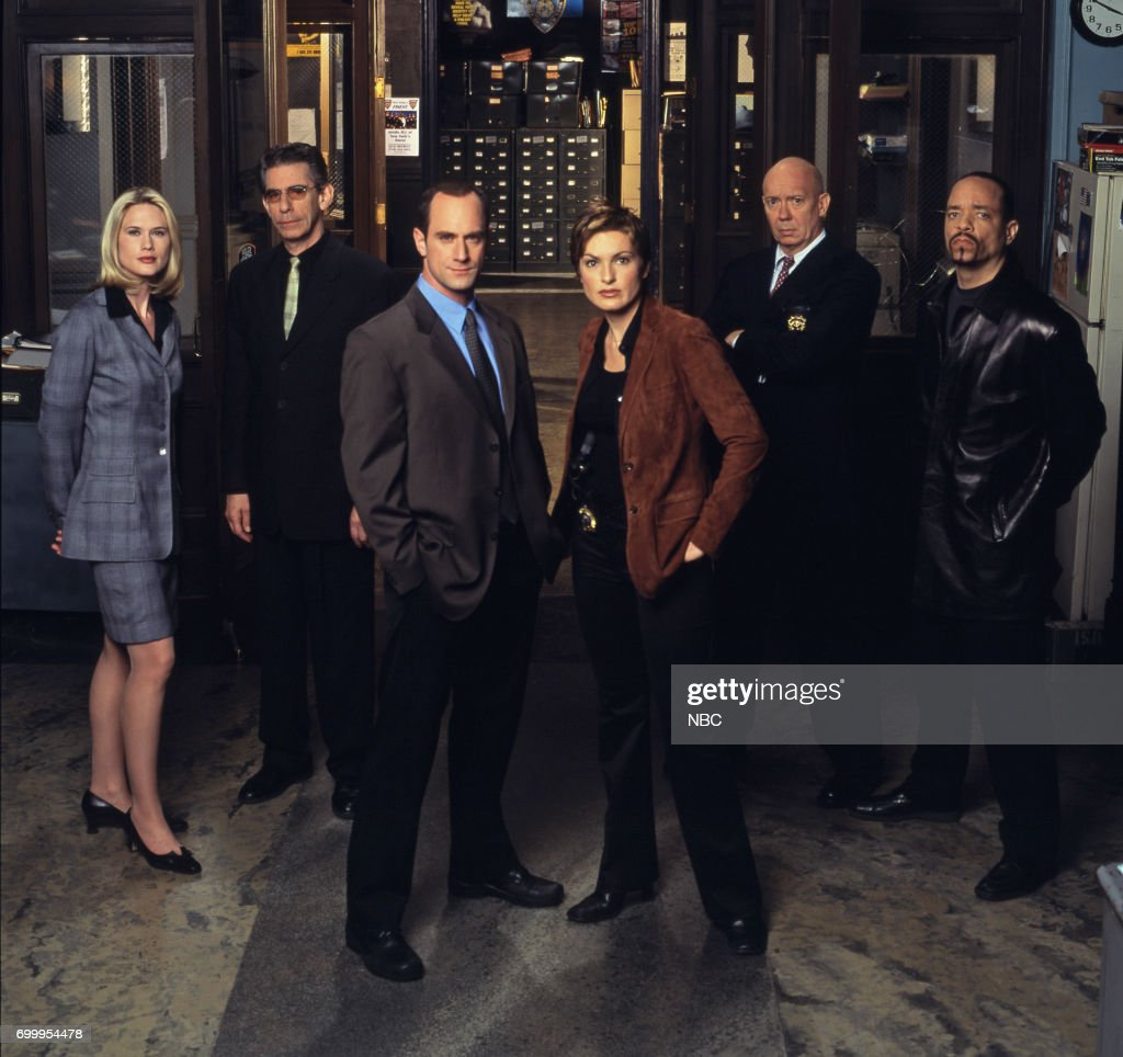 Stephanie March as A.D.A. Alexandra Cabot, Richard Belzer as Detective John Munch, Christopher Meloni as Detective Elliot Stabler, Mariska Hargitay as Detective Olivia Benson, Dann Florek as Captain Donald Cragen, Ice-T as Detective Odafin 'Fin' Tutuola --