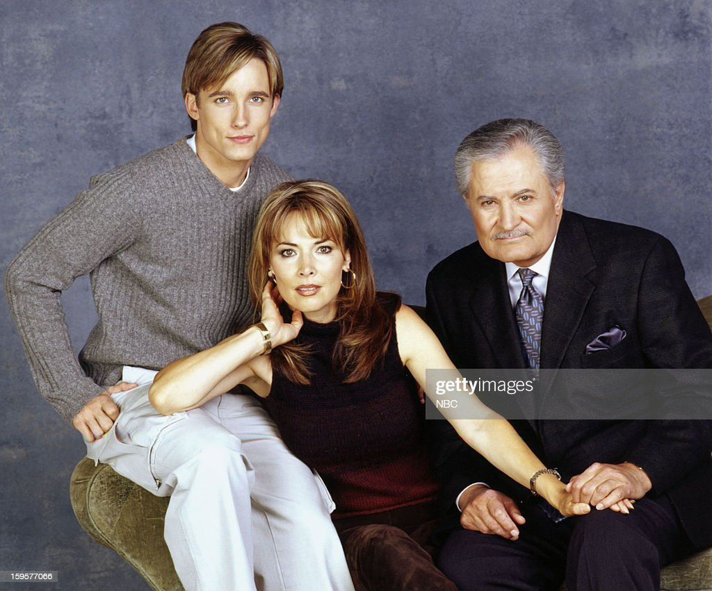 Jay Kenneth Johnson as Philip Kiriakis, Lauren Koslow as Kate Roberts, John Aniston as Victor Kiriakis --