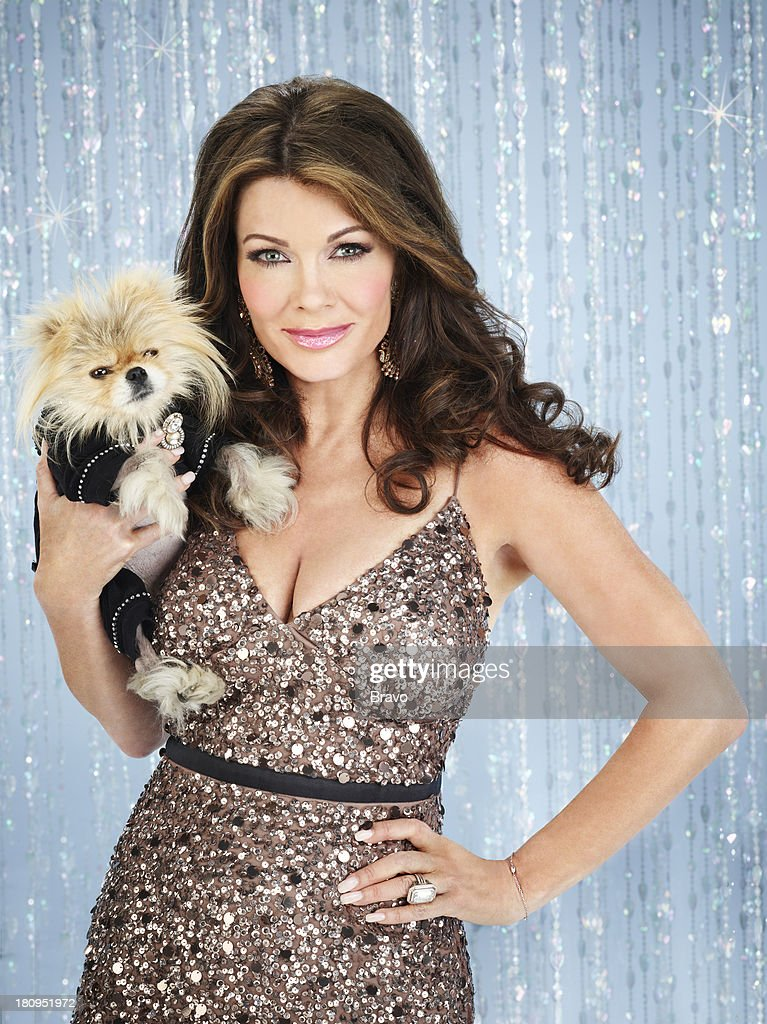 4 -- Pictured: (l-r) Dog Giggy, Lisa Vanderpump --