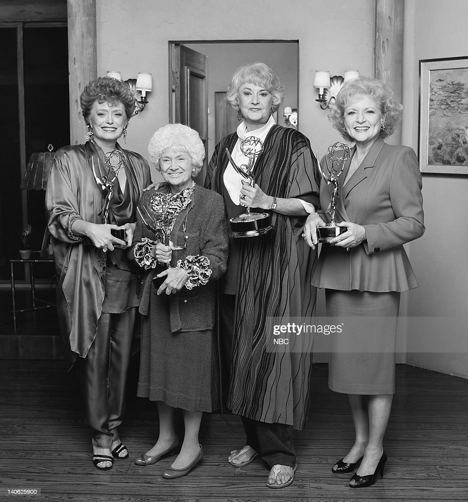 Rue McClanahan as Blanche Devereaux, Estelle Getty as Sophia Petrillo, Bea Arthur as Dorothy Petrillo Zbornak, Betty White as Rose Nylund -- Photo by: Paul Drinkwater/NBCU Photo Bank