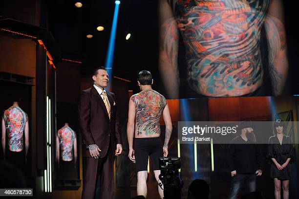 Season 5 finalists Cleen Rock One and Jason Clay Dunn at 'Ink Master' Season Five Live Finale at Manhattan Center Grand Ballroom on December 16 2014...