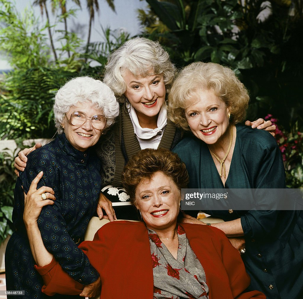 Estelle Getty as Sophia Petrillo, Bea Arthur as Dorothy Petrillo Zbornak, Betty White as Rose Nylund, Rue McClanahan as Blanche Devereaux