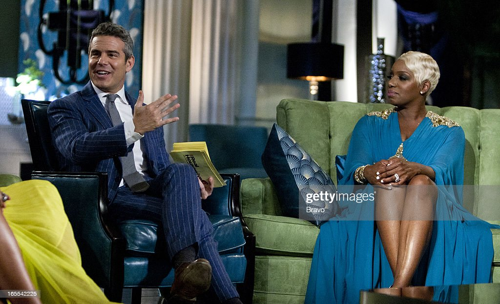 ATLANTA -- 'Season 5 Reunion' Episodes 521, 522, 523 -- Pictured: (l-r) Andy Cohen, <a gi-track='captionPersonalityLinkClicked' href=/galleries/search?phrase=NeNe+Leakes&family=editorial&specificpeople=5446374 ng-click='$event.stopPropagation()'>NeNe Leakes</a> --