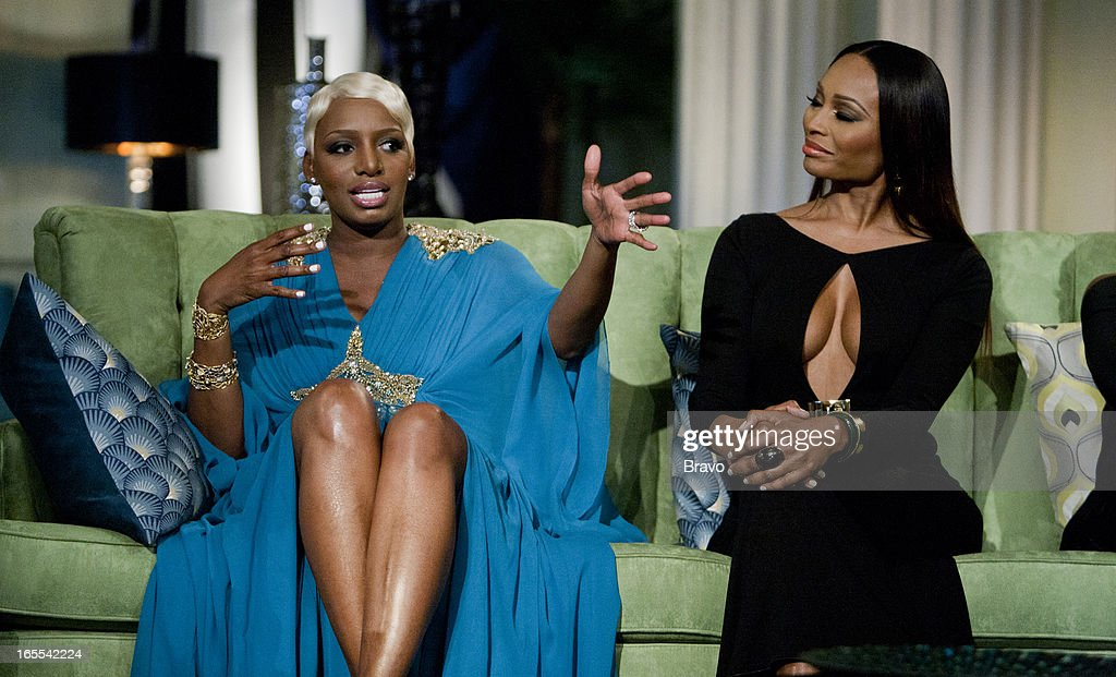 ATLANTA -- 'Season 5 Reunion' Episodes 521, 522, 523 -- Pictured: (l-r) <a gi-track='captionPersonalityLinkClicked' href=/galleries/search?phrase=NeNe+Leakes&family=editorial&specificpeople=5446374 ng-click='$event.stopPropagation()'>NeNe Leakes</a>, <a gi-track='captionPersonalityLinkClicked' href=/galleries/search?phrase=Cynthia+Bailey&family=editorial&specificpeople=3055318 ng-click='$event.stopPropagation()'>Cynthia Bailey</a> --