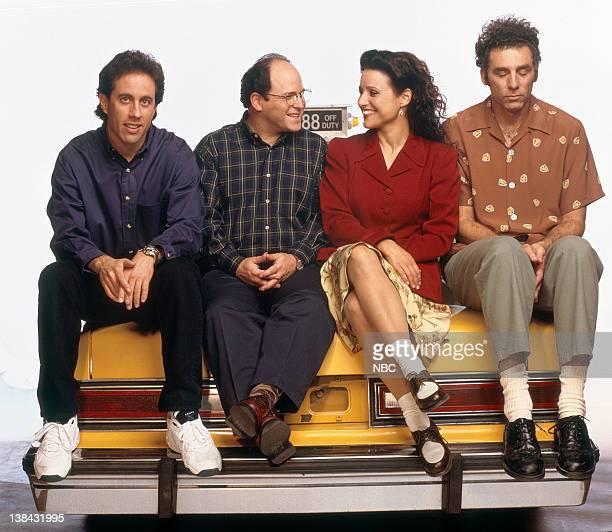 Jerry Seinfeld Jason Alexander as George Costanza Julia LouisDreyfus as Elaine Benes Michael Richards as Cosmo Kramer