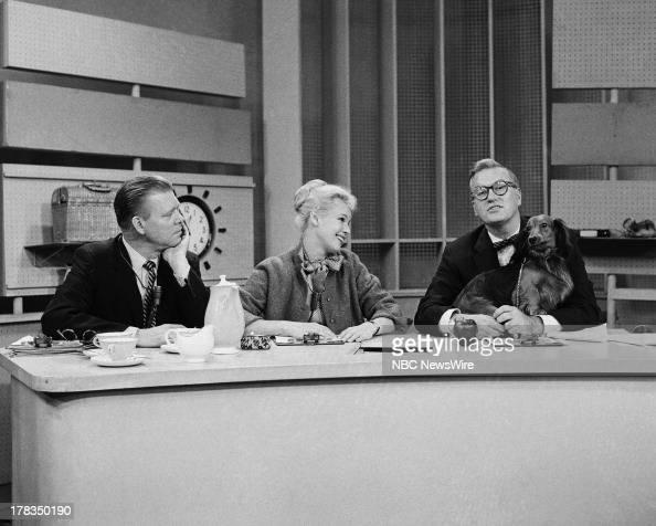 NBC News' Jack Lescoulie Betsy Palmer Dave Garroway on September 24 1958