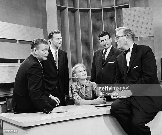 NBC News' Jack Lescoulie Charles Van Doren Betsy Palmer Frank Blair Dave Garroway on September 24 1958