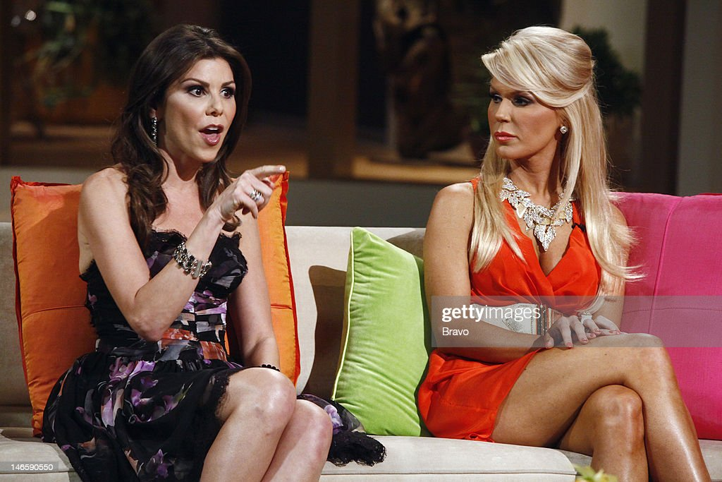 COUNTY -- 'Season 7 Reunion' -- Pictured: (l-r) Heather Dubrow, <a gi-track='captionPersonalityLinkClicked' href=/galleries/search?phrase=Gretchen+Rossi&family=editorial&specificpeople=5637804 ng-click='$event.stopPropagation()'>Gretchen Rossi</a> --
