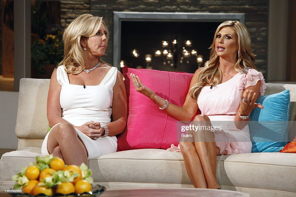 COUNTY -- 'Season 7 Reunion' -- Pictured: (l-r) Vicki Gunvalson, <a gi-track='captionPersonalityLinkClicked' href=/galleries/search?phrase=Alexis+Bellino&family=editorial&specificpeople=6544408 ng-click='$event.stopPropagation()'>Alexis Bellino</a> --