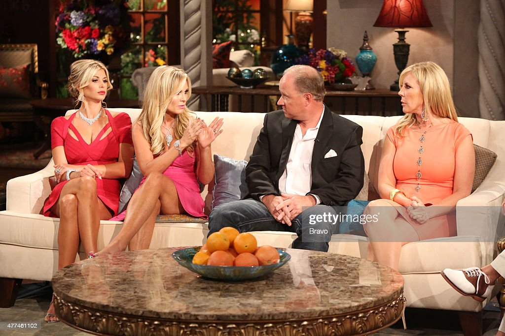 COUNTY --'Season 8 Reunion Special' -- Pictured: (l-r) Alexis Bellino, Tamra Barney, Brooks Ayers, Vicki Gunvalson --