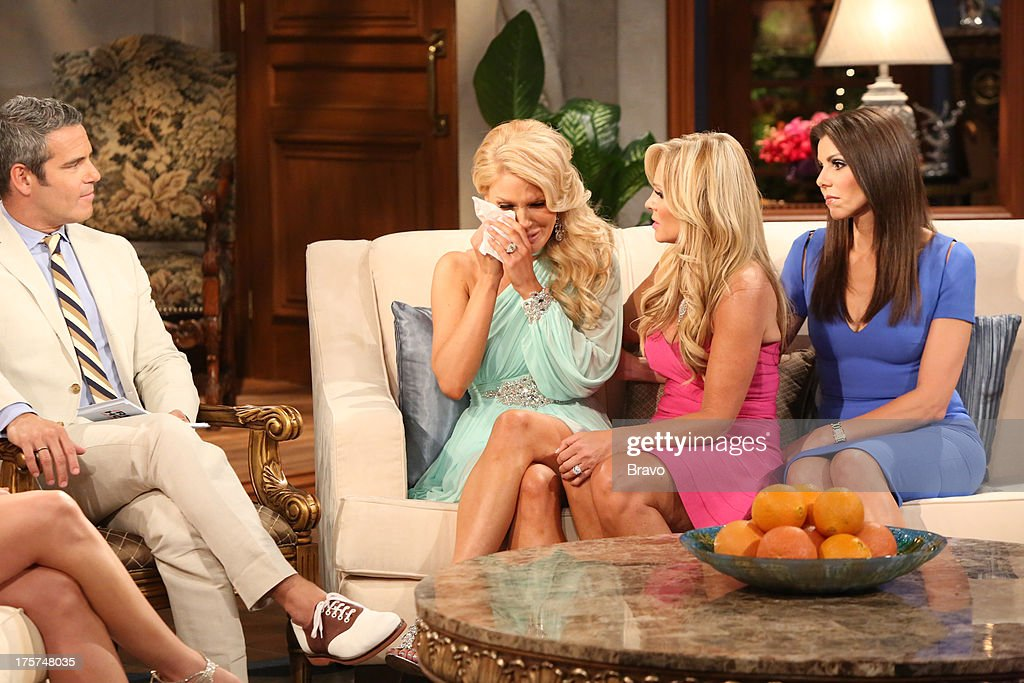 COUNTY --'Season 8 Reunion Special' -- Pictured: (l-r) Andy Cohen, <a gi-track='captionPersonalityLinkClicked' href=/galleries/search?phrase=Gretchen+Rossi&family=editorial&specificpeople=5637804 ng-click='$event.stopPropagation()'>Gretchen Rossi</a>, Tamra Barney, Heather Dubrow --
