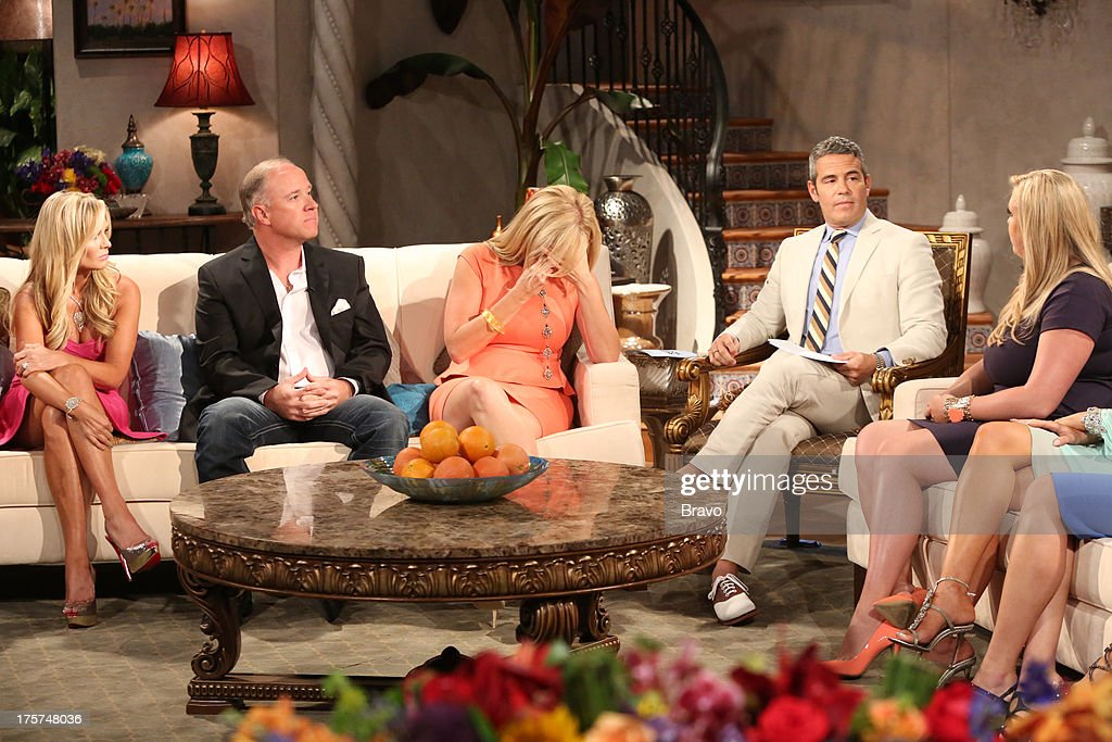 COUNTY --'Season 8 Reunion Special' -- Pictured: (l-r) Tamra Barney, Brooks Ayers, Vicki Gunvalson, Andy Cohen, Briana Wolfsmith-Culberson --