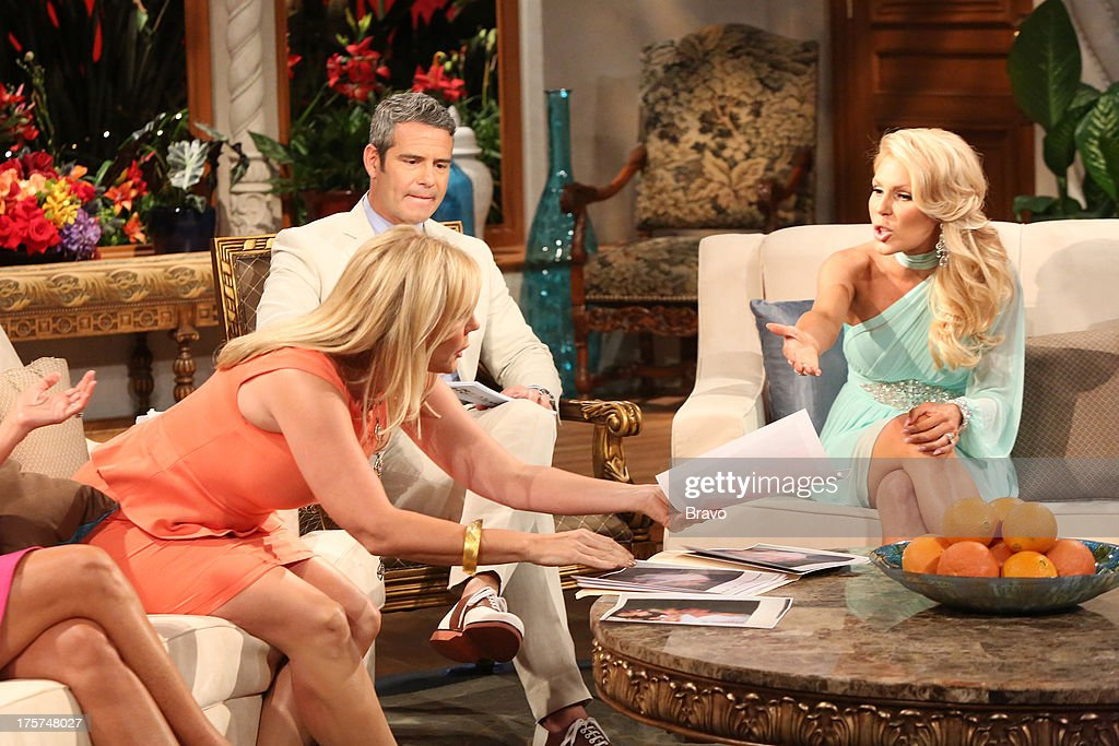 COUNTY --'Season 8 Reunion Special' -- Pictured: (l-r) Vicki Gunvalson, Andy Cohen, <a gi-track='captionPersonalityLinkClicked' href=/galleries/search?phrase=Gretchen+Rossi&family=editorial&specificpeople=5637804 ng-click='$event.stopPropagation()'>Gretchen Rossi</a> --