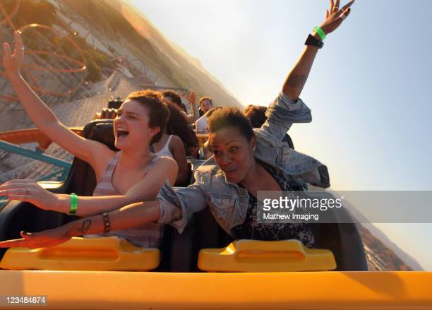 Season 8 Winner Melanie Moore and Sasha Mallory attend the 'So You Think You Can Dance' Season 8 Tour KickOff Party at Six Flags Magic Mountain on...
