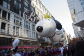 S THANKSGIVING DAY PARADE Season 87 Pictured Snoopy and Woodstock balloon