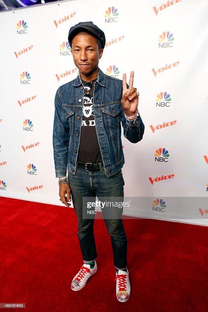 THE VOICE -- 'Season 9 Press Junket' -- Pictured: Pharrell Williams --