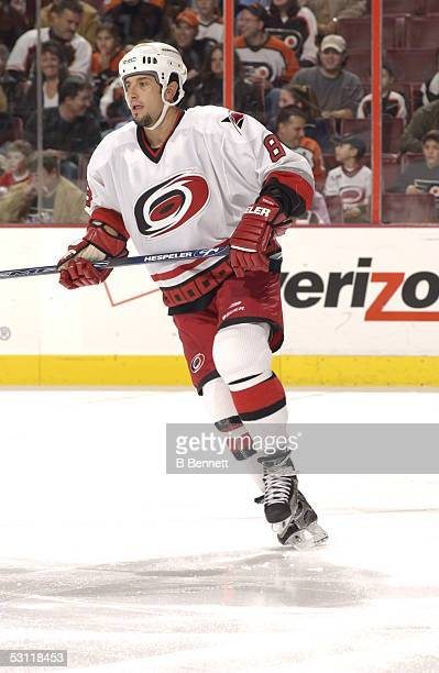 Carolina Hurricanes at Philadelphia Flyers November 30 2003 And Player Bob Boughner