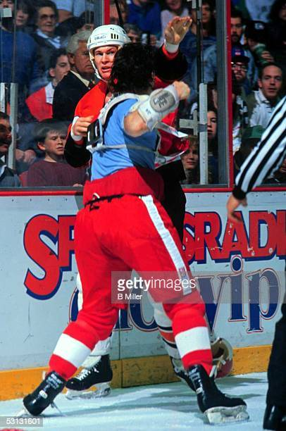 Detroit's Bob Probert is ready to unload on Jeff Chychrun
