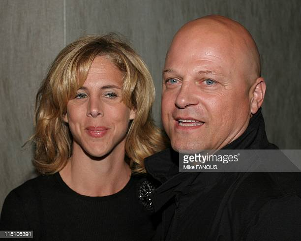 Season Four Premiere of 'The Shield' at the Pacific Design Center in Hollywood United States on March 12 2005 Michelle and Michael Chiklis arrive to...