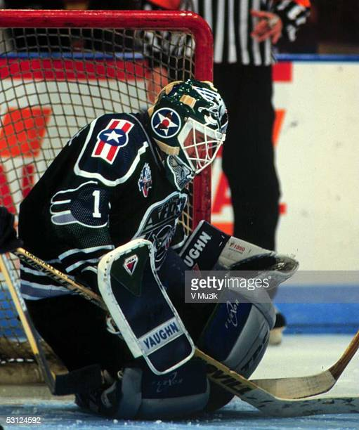 Goaltender Troy Gamble of the Houston Aeros Troy led Houston in GP minutes wins and ties