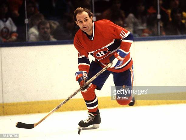 Guy Lafleur during his playing days with the Montreal Canadiens And Player Guy Lafleur