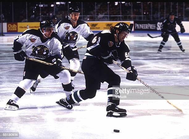 International Hockey League #17 Larry Olimb Minnesota Moose #68 Zigmund Palffy Denver Grizzlies