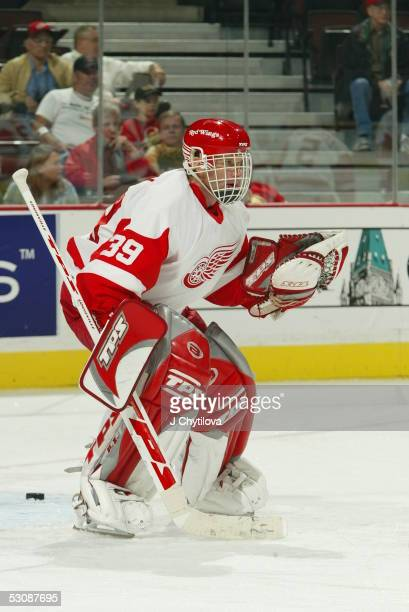 Ottawa Senators vs Detroit Red Wings at the Corel Center in Ottawa Canada on October 11 and Player Dominik Hasek