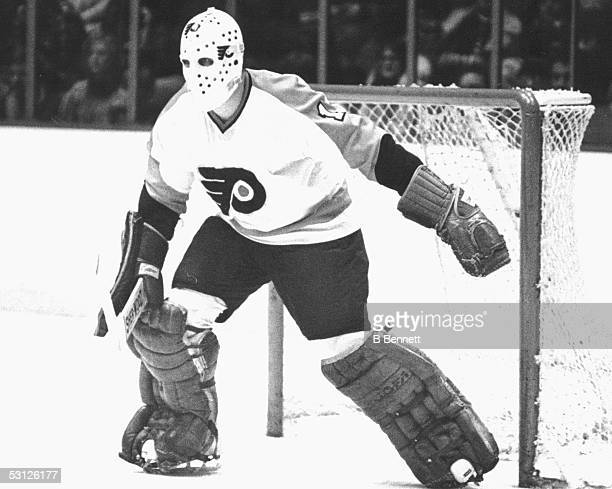 Player Bernie Parent of the Philadelphia Flyers