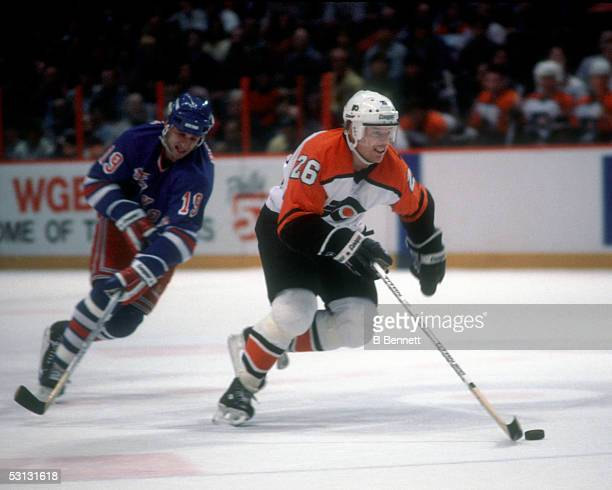 Player Brian Propp of the Philadelphia Flyers And Player Brian Propp