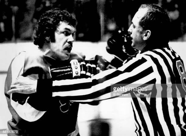 Player Dave Schultz of the Philadelphia Flyers And Player Dave Schultz