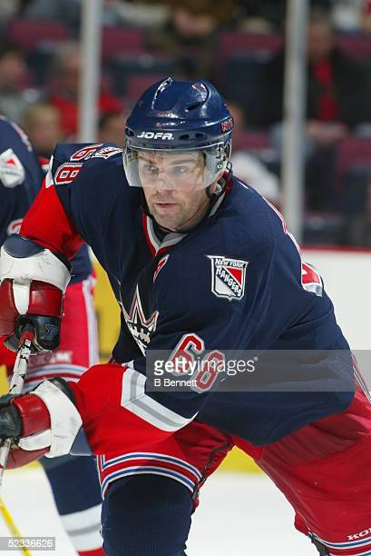 Player Jaromir Jagr of the New York Rangers
